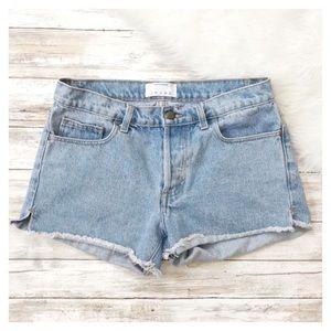 American Apparel Cut Off Jean Shorts Size 27